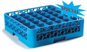 RG36-114 – OptiClean™ 36-Compartment Glass Rack w/1Extender