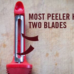Peel Carrots Like a Pro by Using Both Sides of the Peeler